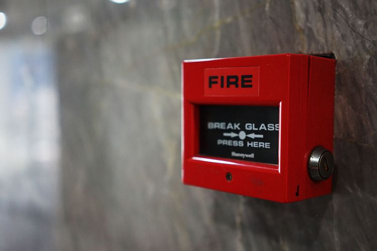 An office fire alarm